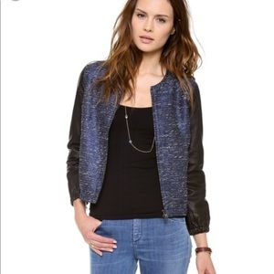 Madewell Shimmer Weave Bomber Leather Sleeves